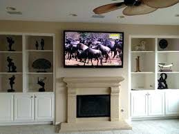 hang above fireplace mount no studs tv over mounting into stone