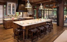 white country kitchen with butcher block. White Country Kitchen With Butcher Block L Shaped Beige Painted Honey Maple Wood Island Ceiling Lighting