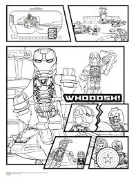 Coloring Pages Lego Marvel Coloring Pages Color Printable