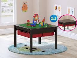 8 utex 2 in 1 kids construction play table with storage drawers