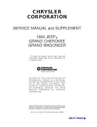 Jeep Transfer Case Identification Chart 1993 Jeep Grand Cherokee Service Repair Manual
