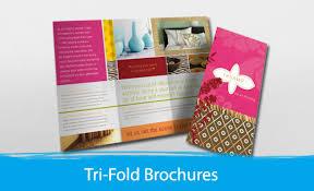 tri fold brochures tri folded brochure print depot