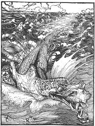 Sea Serpent By Arthur Rackham Might Be Leviathan Might Not St