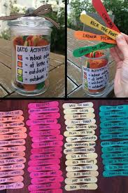 a jar of color coded date night ideas