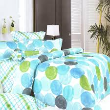 blancho bedding blue marbles 100 cotton 5pc comforter set grey and white polka dot