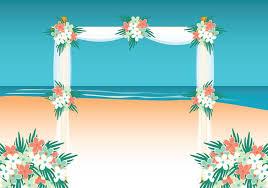 Beach Wedding Background Download Free Vectors Clipart