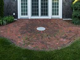 round brick patio mike stacy landscaping