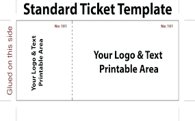 Template For A Raffle Ticket New Ms Word Raffle Ticket Template Free Templates Follow