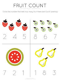 Template Tuesday: Fruit Count > work on counting and number ...
