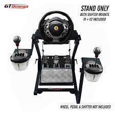 Thrustmaster xbox one ferrari 458 gamepod set up ! Amazon Com Gt Omega Steering Wheel Stand For Thrustmaster Tx Racing Wheel Ferrari 458 Italia Pedals Set Xbox One Pc Compact Foldable Tilt Adjustable To Ultimate Gaming Console Experience Video Games