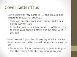 actuary resume cover letters resume and cover letter workshop the pennsylvania state university