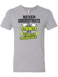 inktastic never underestimate the strength of a cancer survivor non hodgkins men s v neck t shirt walmart