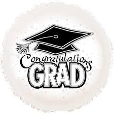 congratulations to graduate white congratulations grad round balloon round balloons