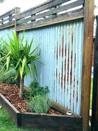 corrugated metal and wood fence plans