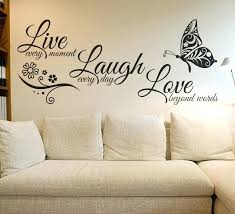 wall quote stickers live laugh love butterfly flower wall art sticker modern wall decals quotes vinyls  on wall art stickers quotes australia with wall quote stickers image of large custom vinyl wall decals ideas