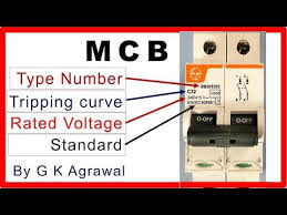 Mcb Size Chart Mcb Breaker Rating Plate Data Printed On The Mcb