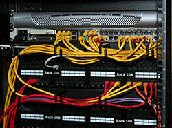 category 5 5e cat 6 cabling tutorial and faq s the photo above shows a typical category 5e patch panel patch cables connecting each network links switch hub ports