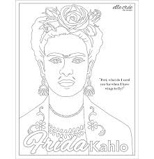 Cuenta oficial de frida kahlo. Coloring Pages Elle Cree She Creates