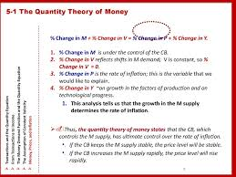 5 1 the quantity theory of money