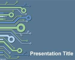 Powerpoint Circuit Theme Electronic Powerpoint Template Is A Blue Template For