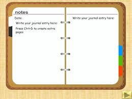 Diary Format Template Journal Writing Template