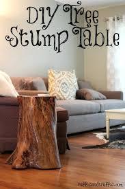 diy stump table diy wood stump side table