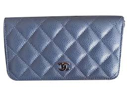 chanel zip wallet. chanel small zip wallet in blue gray caviar leather wallets grey ref.20313 p