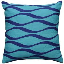 turquoise decorative pillows. Exellent Pillows Contemporary Waves Aqua Turquoise I Decorative Pillow Cover Wool 18 Throughout Pillows E