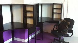 study furniture ideas. pretty corner ikea micke desk in black with hutch for home office furniture ideas study