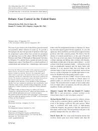 debate gun control in the united states pdf available
