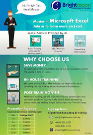 Training Flyer Master In Microsoft Excel Training Malaysia Training Flyer