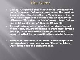 The Giver Quotes Interesting The Giver Literary Techniques Ppt Download