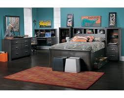 Leon Bedroom Furniture Dessy Junior Full Storage Bed Charcoal Leons