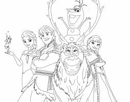 Disney Coloring Pages Frozen Frozen Happy Family Free Coloring Page
