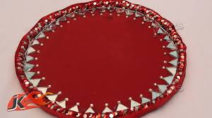 Decorative Platters And Trays DIY How to Make Decorative Round Wedding Tray JK Arts 60 YouTube 11
