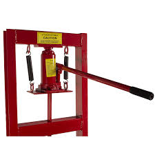 amazon dragway tools 6 ton hydraulic floor press with press plates and h frame is ideal for gears and bearings home improvement