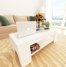 new caspian white lift up top coffee table with storage shelf