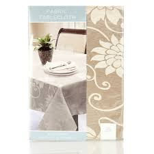fl embossed tan 70 round tablecloth