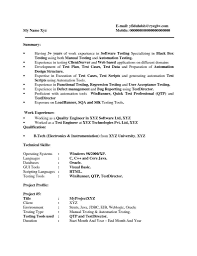 Mobile Application Testing Sample Resume with regard to Mobile Application  Testing Sample Resume
