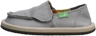 Details About Sanuk Kids Vagabond Boys Loafer Grey Blanket Size 9 0 Cpra