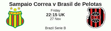 The initial goals odds is 2.0; Sampaio Correa Vs Brasil De Pelotas Prediction And Betting Tips