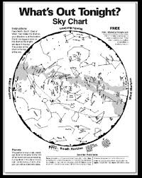 Monthly Sky Chart Hastings Museum A Stellar Destination