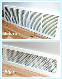 diy air vent cover home air ventilation air return grates air vent cover linear bar before after diy air conditioner vent covers diy decorative cold air