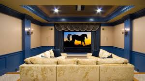 themed family rooms interior home theater: basement home theater ideas rustic wood bar table music theme wall poster nice wall lamp l shape brown leather sofa large tv wall