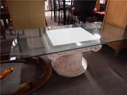 coffee table bevilled glass top