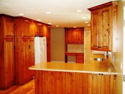 image of rustic oak kitchen cabinets