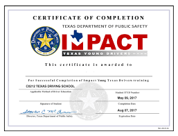 What Is Course Completion Certificate Texas Driving School Corpus Christi