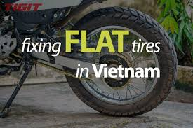 flat tire. Brilliant Flat How To Fix Flat Tires In Vietnam Inside Flat Tire