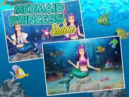 princess salon mermaid makeup poster