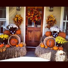 Fall Porch Decorating Love The Decorations But Really Love The Front Door Fall Decor